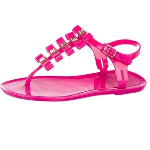 💯AUTH KATE SPADE ♠️ New York JELLY PINK SANDAL 7